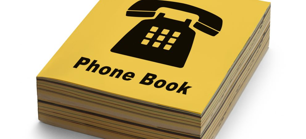 Where is your telephone book?