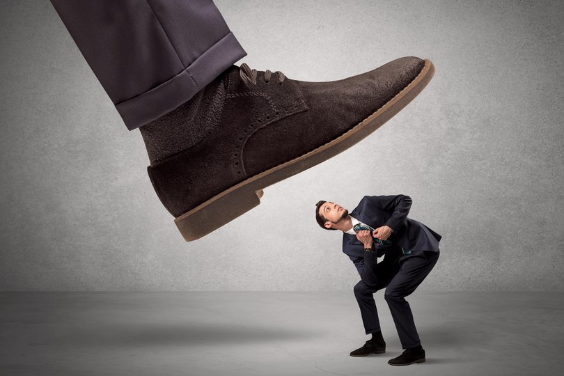 Stepping on others with your executive shoe?